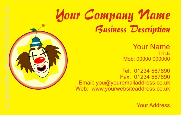 ENTERTAINERS: ENTERTAINERS BUSINESS CARD DESIGN REF 251