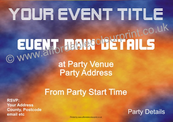 PARTY INVITATIONS: PARTY INVITE (SIZE A6) REF112