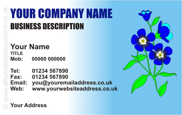 FLORAL: FLORAL BUSINESS CARD DESIGN REF 150