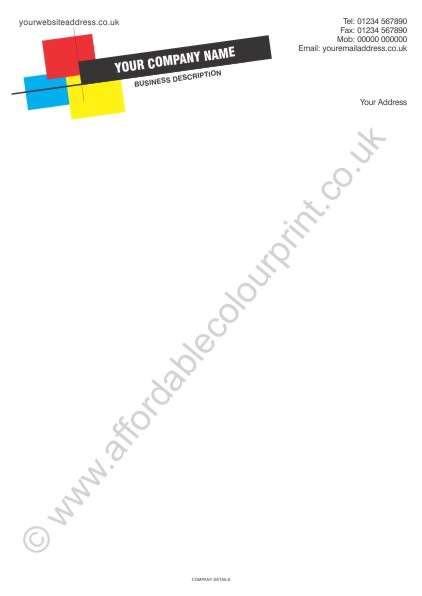 DESIGN YOUR OWN LETTERHEADS: A4 LETTERHEADS 080