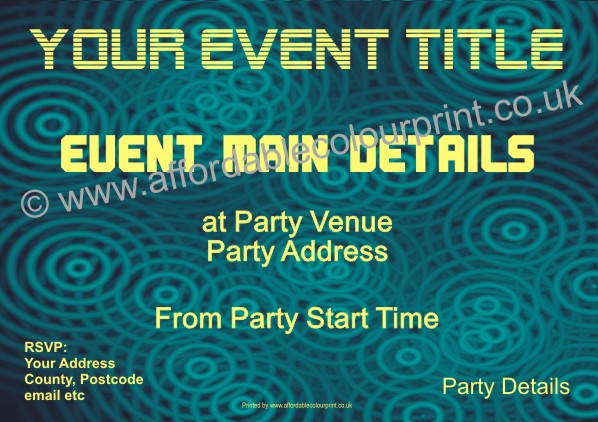 PARTY INVITATIONS: PARTY INVITE (SIZE A6) REF111