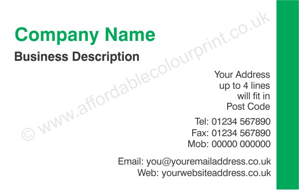 PRINTED BUSINESS CARDS: BUSINESS CARD 010
