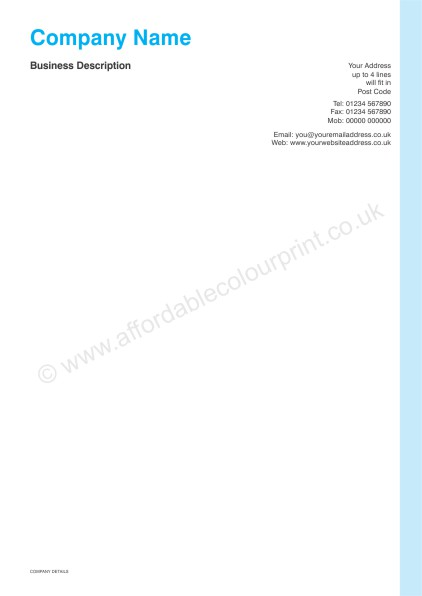 DESIGN YOUR OWN LETTERHEADS: A4 LETTERHEADS 011