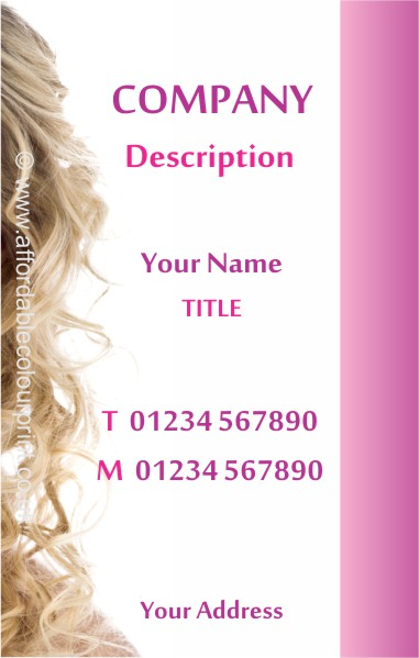 HAIR STYLISTS CARDS: HAIR STYLISTS BUSINESS CARD Ref 851