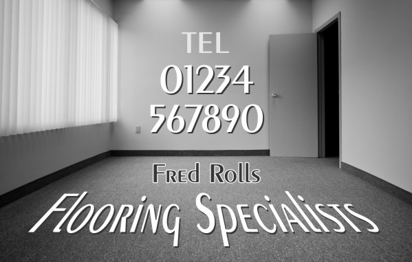 TRADESMAN: FLOORING SPECIALISTS Business Card Ref 595