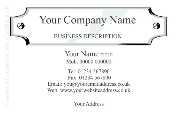 PRINTED BUSINESS CARDS: PROFESSIONAL SERVICES BUSINESS CARD DESIGN REF 950