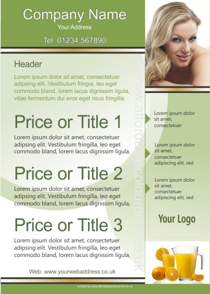 LOW COST LEAFLETS: A5 LEAFLET 011