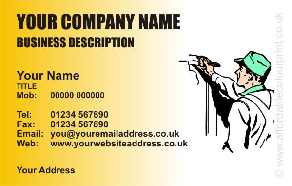 Builders business card design ref 550 colourmoves