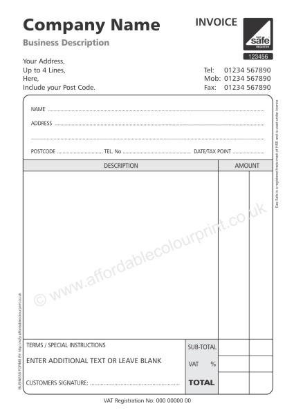 invoice, Simple invoice