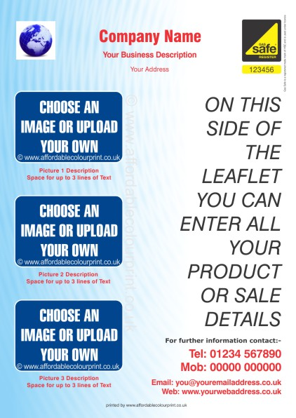 HEATING AND PLUMBING TRADE: GAS SAFE A4 LEAFLET 004