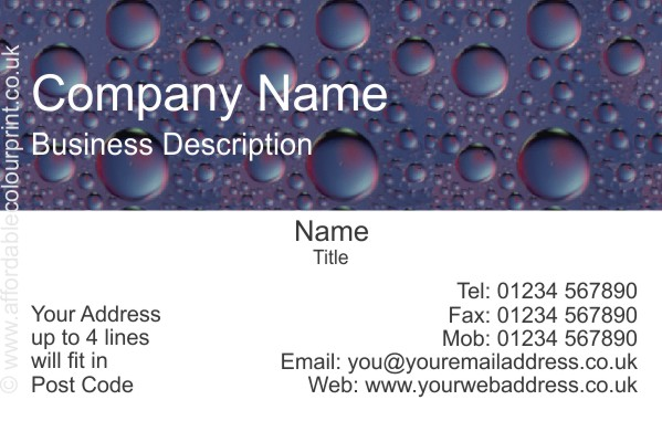 PLUMBING AND HEATING TRADE: PLUMBERS BUSINESS CARD DESIGN REF P101