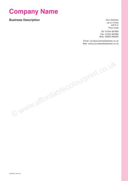 DESIGN YOUR OWN LETTERHEADS: A4 LETTERHEADS 013