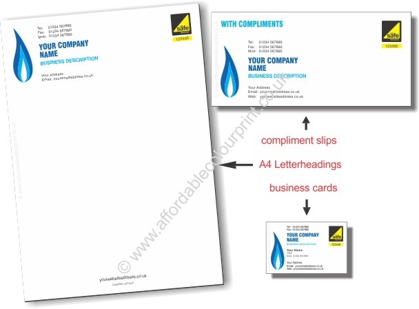 GAS SAFE: BUSINESS PACK For Gas Safe Registered Plumbers and Heating Engineers - REF112