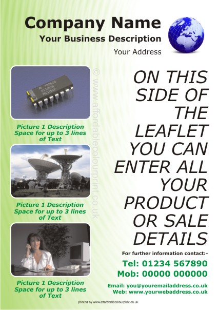 LOW COST LEAFLETS: A5 LEAFLET 005