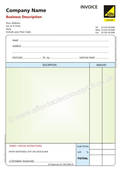 plumbing receipt, Invoice templates