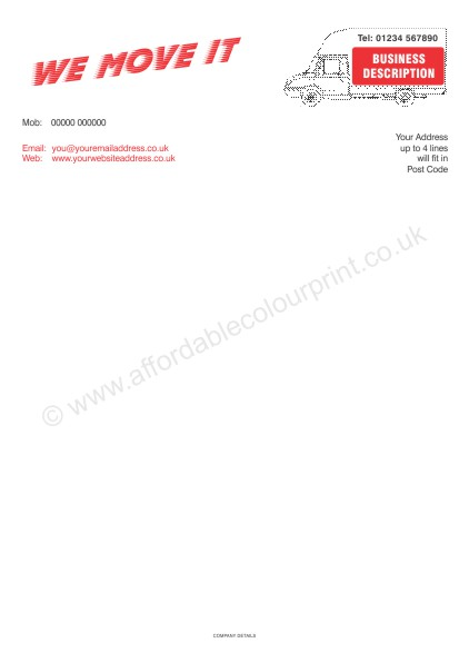 DESIGN YOUR OWN LETTERHEADS: A4 LETTERHEADS 008