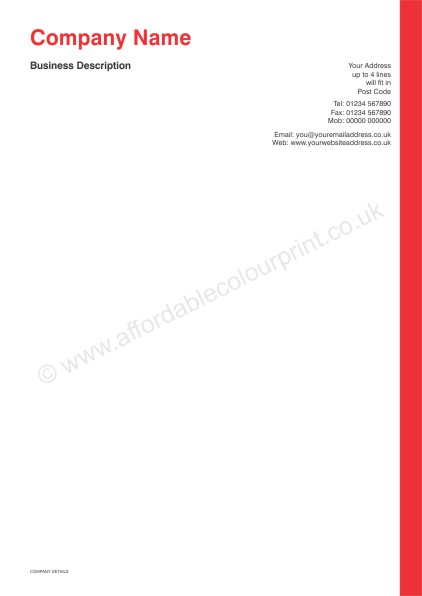 DESIGN YOUR OWN LETTERHEADS: A4 LETTERHEADS 012