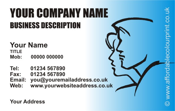 HUMAN RESOURCES: HUMAN RESOURCES BUSINESS CARD DESIGN REF 350