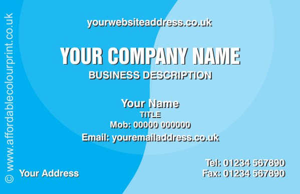 PROFESSIONAL SERVICES: Business Card - REF 092
