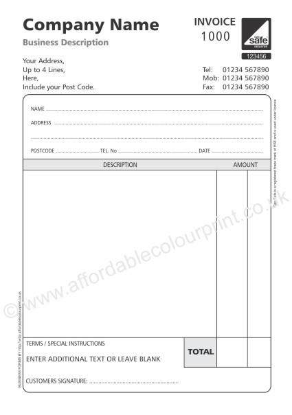 uk vat invoice template