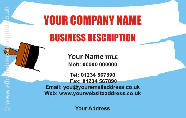TRADESMAN: BUILDERS BUSINESS CARD DESIGN REF 551