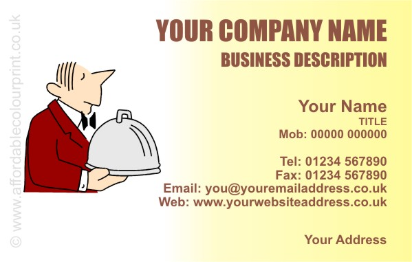 CATERING: CATERERS BUSINESS CARD DESIGN REF 651