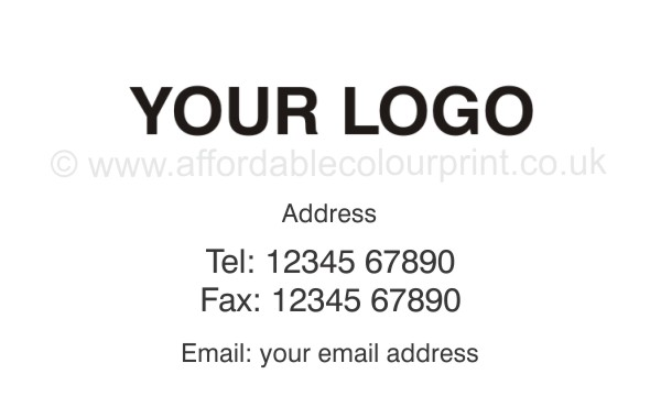 ADDRESS LABELS: White Self Adhesive Label Size 63.5mm x 38mm with Logo