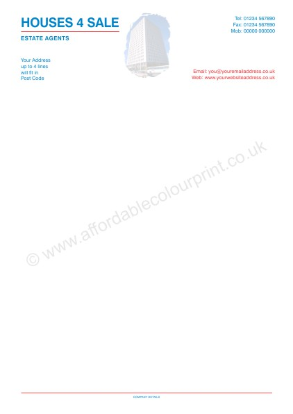 DESIGN YOUR OWN LETTERHEADS: A4 LETTERHEADS 001