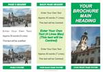 LOW COST BROCHURES: 3 FOLD BROCHURE CLASSIC GREEN