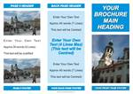 LOW COST BROCHURES: 3 FOLD BROCHURE CLASSIC BLUE